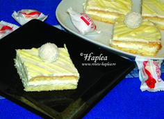 Prajitura Raffaello făcută în casă cu cremă mascarpone Deserts, Dairy, Pie, Cooking Recipes, Cheese, Food, Mascarpone, Raffaello, Torte