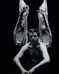 Photograph of the painter Francis Bacon taken by John Deakin for Vogue, 1962. #bookthing @Roseander Main
