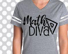 Math teacher, Math Diva svg, Teacher svg, Kids svg, Numbers svg, Math svg, student svg, SVG,DXF, EPS, funny teacher, cricut, silhouette by ShortsandLemons on Etsy https://www.etsy.com/listing/486620030/math-teacher-math-diva-svg-teacher-svg