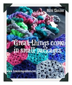 Mini Sock Yarn Skeins - Great things come in small packages from TreasureGoddess Blog