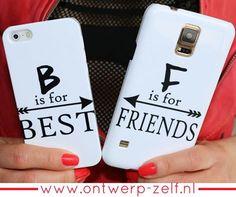 Coz B is for Best & F is for Friends ❤ De BFF en Koppelhoesjes zijn nu ook verkrijgbaar voor de Samsung S7 en S7 Edge. www.ontwerp-zelf.nl