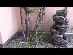 Zahradní a interiérová fontána ve dne