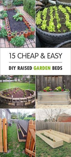Great DIY raised garden beds for vegetables and other crops, that you can make for your backyard.