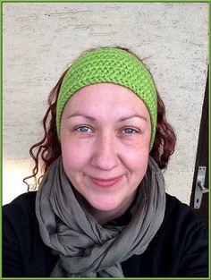 Stirnbänder - Wolle Stirnband, grün, Ohrenwärmer, Haarband, warm - ein Designerstück von gremArt bei DaWanda
