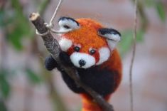 Needle Felted Red Panda (Fire Fox) from Needle Felted Love shop at Etsy.com