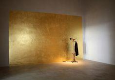 Gold leaf Wall