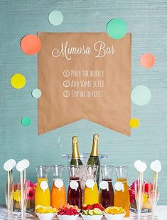 Add a mimosa bar to your bachelorette party.
