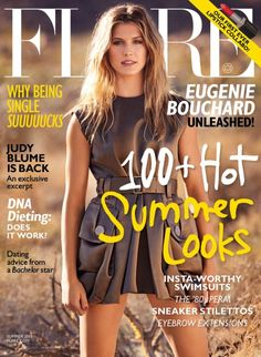Introducing FLARE's Sizzling Summer Cover Star, Eugenie Bouchard! (Photo: Nino Muñoz) // http://www.flare.com/celebrity/cover-girls/meet-our-summer-cover-star-eugenie-bouchard/