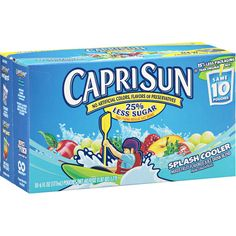 Capri Sun Splash Cooler Mixed Fruit Juice Drink Pouches - Walmart.