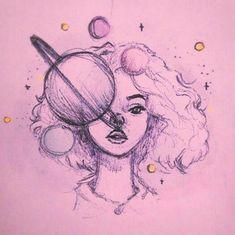 Imagen de art, girl, and pink