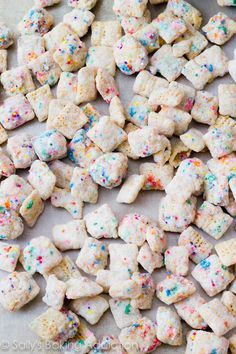 """Cupcake Puppy Chow (without cake mix) Otherwise known as """"coworker crack"""" and """"crackfetti"""". Real food? No. Natural? Hell no. Delicious? You have no. idea."""
