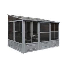 Gazebo Penguin Florence Add-A-Room Solarium 8 ft. x 16 ft. in - The Home Depot Girls Bedroom, Master Bedroom, Bedroom Bed, Master Bath, Aluminum Gazebo, Add A Room, Patio Gazebo, Patio Roof, Metal Pergola