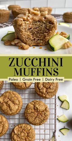 These healthy Paleo zucchini muffins are grain free, dairy free and lightly sweetened with honey. This is the perfect kid friendly zucchini muffin recipe. Great for breakfast or snacking and store well in the fridge. #zucchinimuffins #healthymuffins #zucchini #paleomuffins Healthy Meals For Kids, Healthy Breakfast Recipes, Healthy Baking, Snack Recipes, Free Recipes, Healthy Food, Healthy Recipes, Dairy Free Zucchini Muffins, Gluten Free Muffins