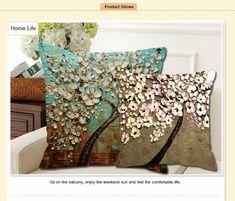 Mode Zimmer Polyester Dekokissen Fall Hippie Mandala Sofa Kissenbezug Dekor