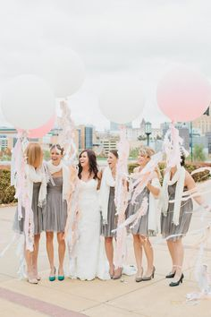 over-sized balloons with tassels