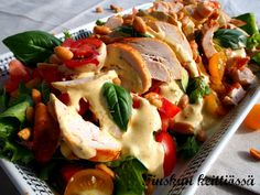 Caprese Salad, Potato Salad, Food And Drink, Cooking Recipes, Potatoes, Meat, Chicken, Dinner, Ethnic Recipes