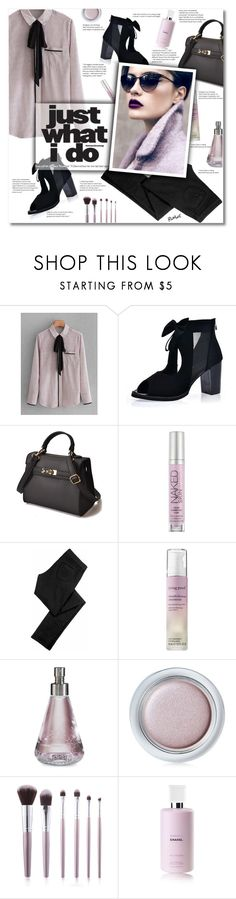"""Romwe 8"" by smajlovicelvira ❤ liked on Polyvore featuring Urban Decay, Siwy, Living Proof, Nomenclature, Shiseido and Chanel"