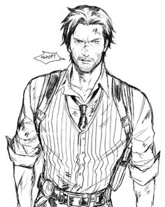 The Evil Within Sebastian Castellanos Character Prompts, Comic Character, Game Character, Character Concept, Character Design, Chica Anime Manga, Anime Guys, The Evil Within Game, Sebastian Castellanos