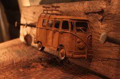 Bulli Bus  VW T1 Model Rostoptik Hakenleiste Garderobe für Bullifans
