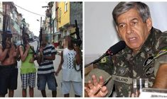 General diz que direitos humanos são para humanos direitos e não para bandidos