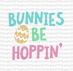Bunnies be hoppin' svg, eps, dxf, png, cricut, cameo, scan N cut, cut file, easter svg, bunny svg, 1st easter svg, easter egg svg by JMGraphicsCO on Etsy