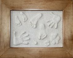 Learn how to make a beautiful lasting impression of your child's hand or baby's feet, or you pet's paw. So cute and easy! Love this!