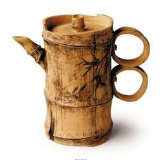 Double-ring Bamboo: original teapot by Lu Wen Xia Bamboo Art, Bamboo Crafts, Wood Crafts, Diy And Crafts, Bamboo Ideas, Bamboo Architecture, Clay Teapots, Bamboo House, Bamboo Design