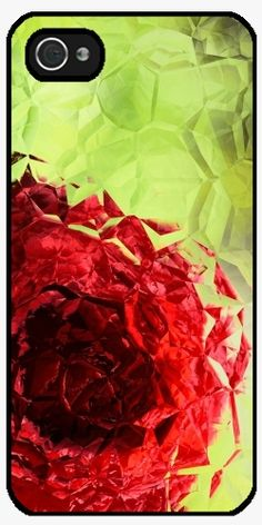 Case for Iphone 4/4S - Polygon Rose - by UtArt