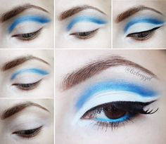 Blue Cut Crease Makeup Tutorial