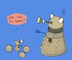 Eggs :D wait when 9 was in Utah weren't those spheres what made the Dalek self destruct