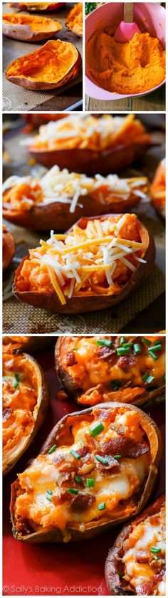 Enjoy a big plate of extra crispy, extra loaded sweet potato skins in no time! This game-time favorite is hard to resist.