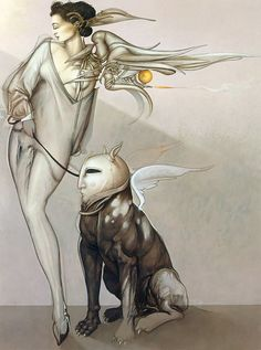 Michael Parkes - Angel and her Pet