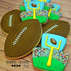 Football Cookies photo by @jillfcs •