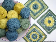 Kalevala Cal ja kasvivärjätyt langat ♡ Crochet Blankets, Yarns, Mandala, Garden, Crafts, Tejidos, Garten, Manualidades, Lawn And Garden