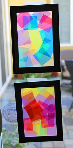 tissue paper/stained glass