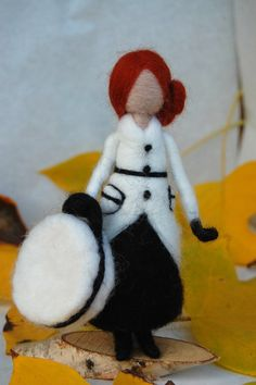 Needle felted doll french style doll neddle felted by MeseemsDolls
