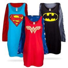Superheroine Sleep Tank Tops - I need all of these.