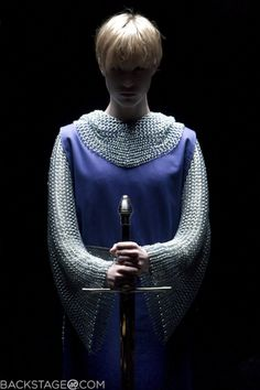 Inspiration for the Joan of Arc-style costume for the end (although this looks more like Jesse wearing it than Saintly!)