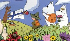 Illustration of Moomins by Tove Jansson.