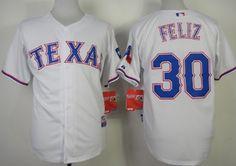 Texas Rangers #30 Neftali Feliz 2014 White Jersey