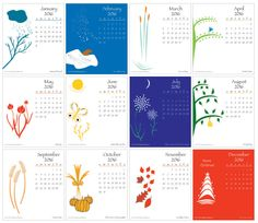Printable 2016 Desktop Calendar with color graphics for CD case - pinned by pin4etsy.com. Use Etsy Coupon Code PINTERESTLUV to receive a 10% discount if you buy!