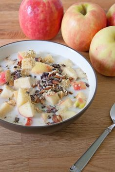 Vegan: Apple Cereal with Nuts, Seeds, and Cacao Nibs