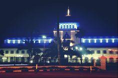 Gedung Sate, Bandung Landmarks. Built in 1920.  this pict, taken at night.