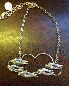 Necklace-Silver migratory birds