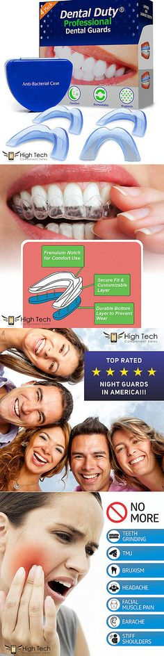 Mouthpieces: Professional Dental Guard 4 (Pack) Stops Teeth Grinding Bruxism Tmj, And Clenching -> BUY IT NOW ONLY: $34.92 on eBay!