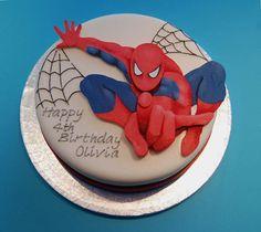 Spiderman Cake Ideas for Little Super Heroes - Novelty Birthday Cakes Spiderman Cake Topper, Spiderman Birthday Cake, Spiderman Theme, Superhero Theme Party, Batman Cakes, Superhero Cake, Happy 4th Birthday, Boy Birthday, Novelty Birthday Cakes