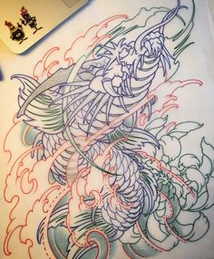 Amsterdam TATTOO 1825 KIMIHITO Koi Dragon Japanese style tattoo design