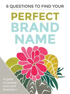 6 Questions to Find Your Perfect Brand Name. Specializing in branding, logo design, website design and savvy business advice. Check out the blog for entrepreneurs at dapperfoxdesign.com/blog. // Website Design - Branding - Logo Design - Brand - Entrepreneur Blog and Resource