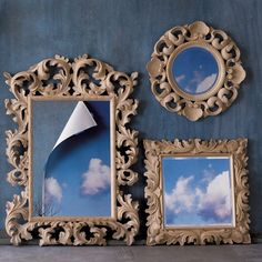 Baroque Carved Wood Mirror [8226] - $399.00 : DIGS, Free shipping on orders over $50 :: modern furniture, housewares, decor and gift items.