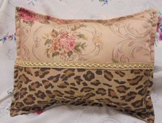 "1/ Custom Accent Pillow Sham 12""x16"" Lauren FABRIC Guinevere / Aragon Gold Trim  #HandMade #tosspillowsham"